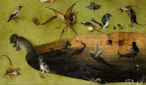 Bosch_Hieronymus_The_Garden_of_Earthly_Delights,_left_panel_-_Detail_pond_with_fictional_creatures_(lower_right)