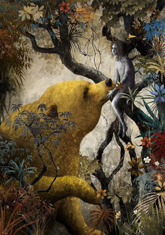 Gabriel Pacheco_El libro de la selva_Mowgli y Baloo
