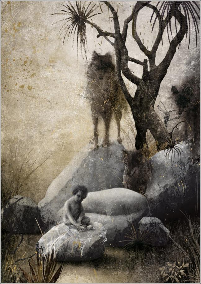 Gabriel-Pacheco_El libro de la selva_Mowgli y lobos