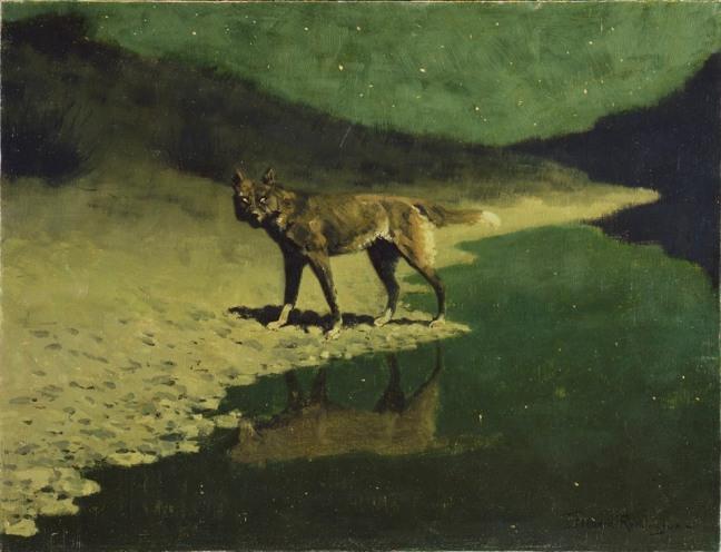 Frederic Remington_Moonlight Wolf_ca. 1909