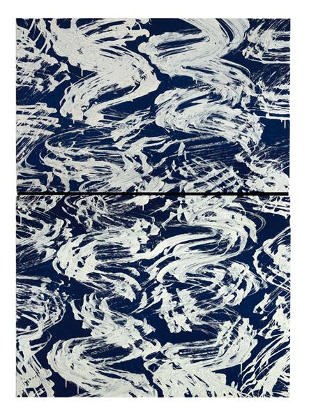 Fabienne Verdier, Fendre les flots- 2018_Acrylique et technique mixte sur toile_252 x 183 cm © Fabienne Verdier : Courtesy Galerie Lelong_jpg