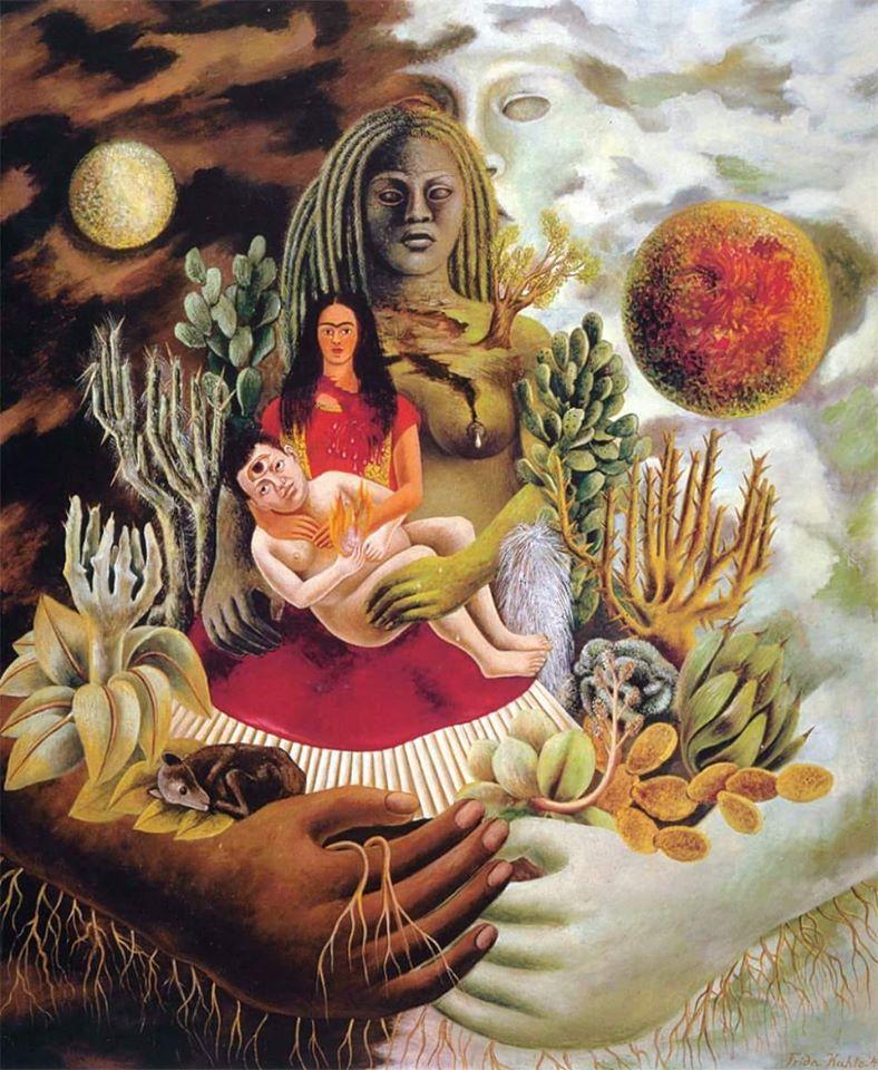 © Pintura de Frida Kahlo_'El abrazo amoroso del Universo'
